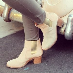 Sperry Top-Sider Boots - Sperry tan and gold booties