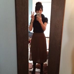 Vintage midi skirt- side slits