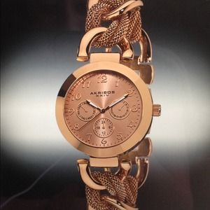 Stunning rose gold Akribos XXIV watch