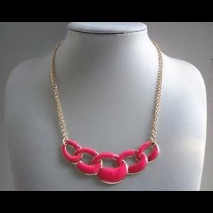 Rose hoop bib collar necklace