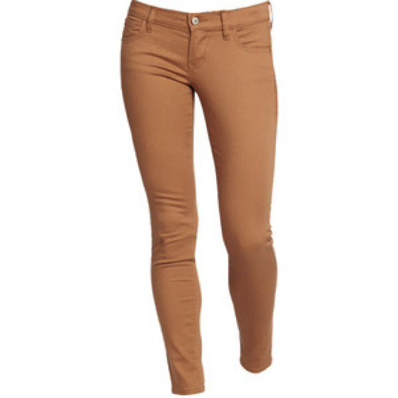 womens tan jeans - Jean Yu Beauty