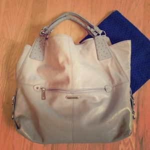 Rebecca Minkoff grey leather bag