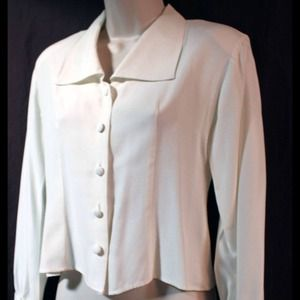 Beautiful tuxedo top with Claire's cuff