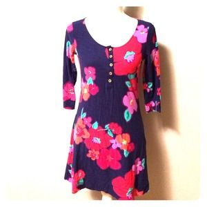 Lilly Pulitzer Blue Floral Dress - Garden Party