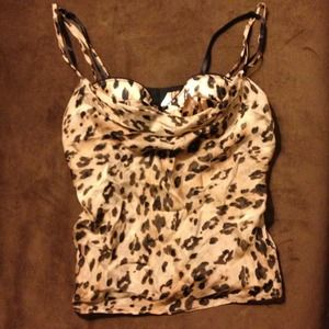 Leopard camisole with built in bra
