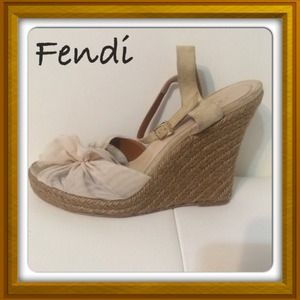 Fendi wedge sandals