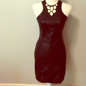 BB Dakota - Black Faux Leather Dress - Size 4