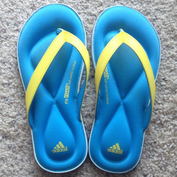 220f1d1be Adidas Shoes - Adidas Flip-flops Foam Soft Comfort Footbed size 5