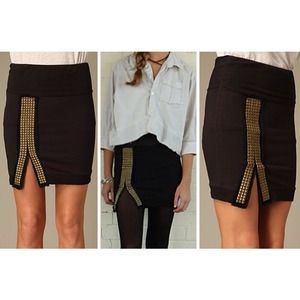 We the Free Studded Mini Skirt