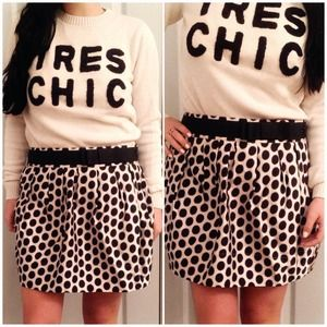 F21 Polka Dot Bow Skirt