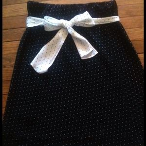 A. Byer Dresses & Skirts - Polka dot skirt with contrasting bow
