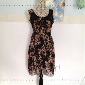 Feminine hi low dress