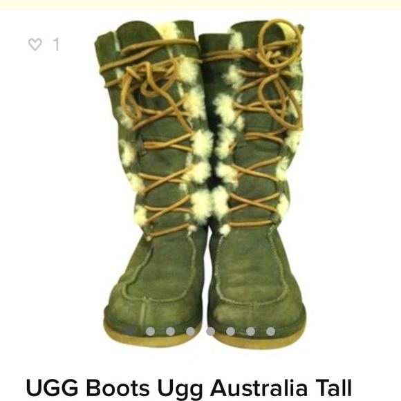 ef2e76cf92d Authentic Ugg Australia Tall Whitley Laced Boots