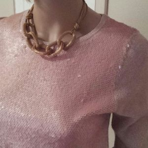 Light pink and gold H&M sequin top
