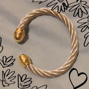 Jewelry - Silver & Gold Cable Bangle