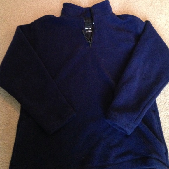 Prospirit - SOLD! Navy blue heavy weight fleece pullover from ...