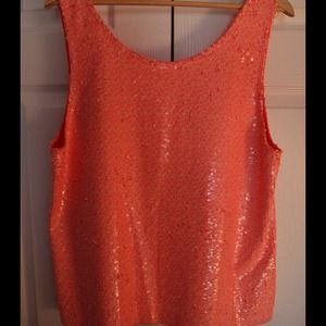 J. Crew Size M Heathered Sequin Tank Top