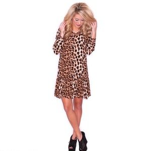 ❗SALE❗New Leopard Print 3/4 Sleeve Sheath Dress