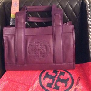 Tory Burch Mini Tory Tote true violet