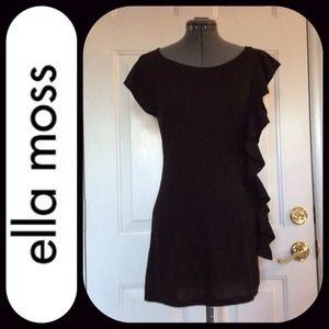 Ella Moss Dresses & Skirts - 💚🎉Host Pick 🎉⬇️Little black ruffle dress💕