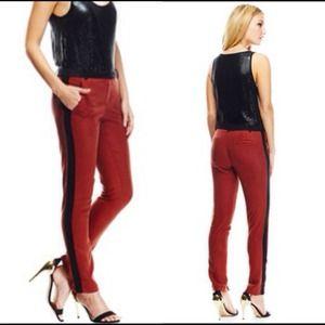 Isabel Lu Pants - ISABEL LU Skinny Tuxedo Pant with Side Panel