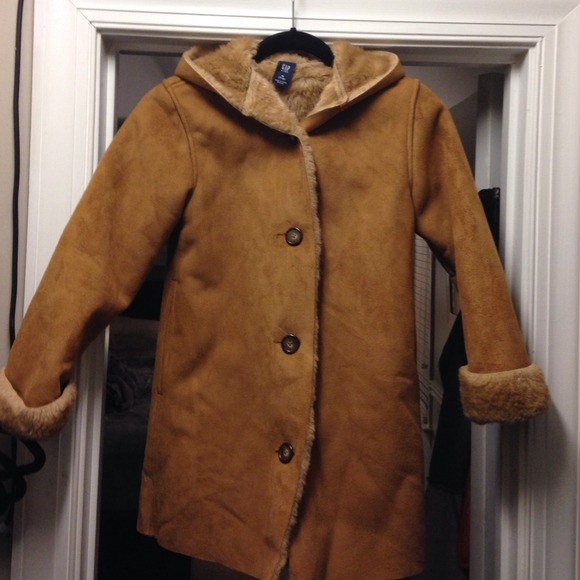 Gap Kids Jackets Amp Coats Medium Shearling Faux Fur