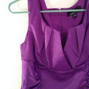 Purple knee length satin dress