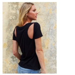 Tops - Classic Black Top + Cut-Out Back Panels
