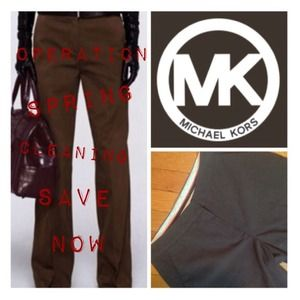 Chocolate Brown Michael Kors Dress Pants
