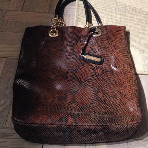 979916f38ed5 Cynthia Rowley Handbags - Cynthia Rowley Python Snakeskin Tote