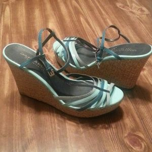 Christian Siriano Shoes - Baby Blue Strappy Wedges