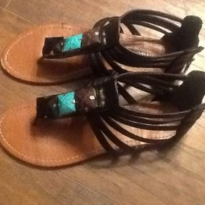 Bamboo gladiator sandals.. Cute