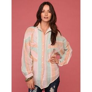 "Free People Tops - Free People ""Borrowed Boyfriend Shirt"""