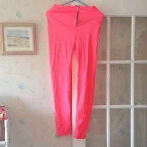Pants - sexy hot pink leggings