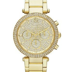 Michael Kors gold with crystals bracelet watch