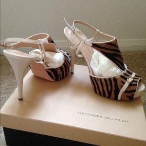 Alessandro Dell'Acqua  Shoes - Alessandro Dell'Acqua Pony Tiger Sandal