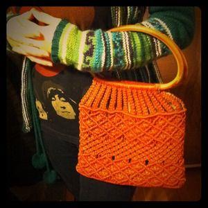 ❗️hold❗️Vintage handmade macrame hippy 70s handbag
