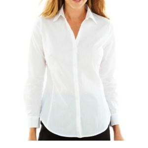 Worthington  Tops - Essential White Blouse