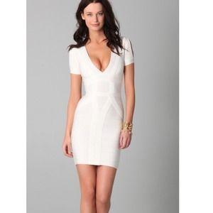 Dresses & Skirts - Herve-Like Bandage White Dress M IDENTICAL TO REAL