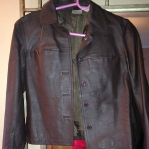 Leather Jacket & Pants Bundle - Dark Brown