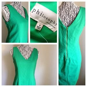 Philosophy Dresses & Skirts - NWOT PHILOSOPHY // Kelly Green Classic Sheath