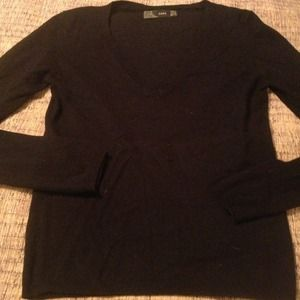 Zara black v-neck sweater