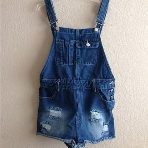 Love Wasted Denim Overalls