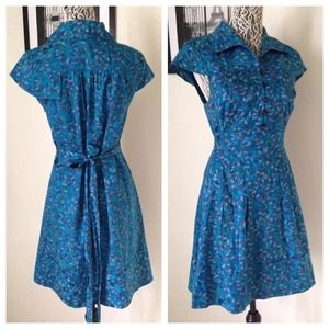 NWOT Marc by Marc Jacobs // Blue Rose Silk Dress