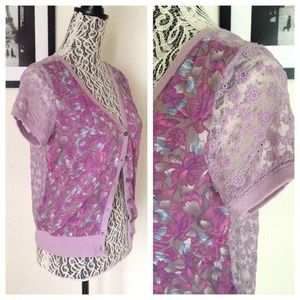 Free People Sweaters - NWOT FREE PEOPLE // Floral Lavender Cardigan