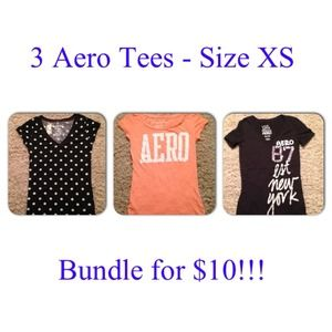 Three tees - excellent condition