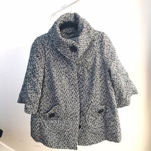 Forever21 statement collar coat