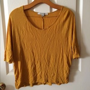 Forever 21 Mustard Yellow Shirt Top S