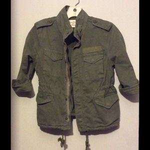 Zara army green jacket