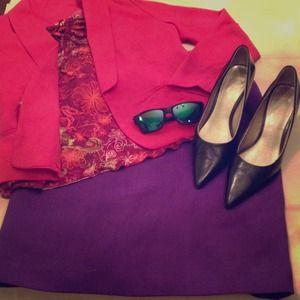 Vintage Purple Midi Skirt